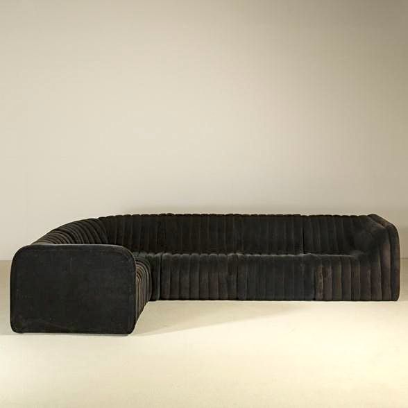 Anonymous; Sectional Sofa by De Sede, 1970s.