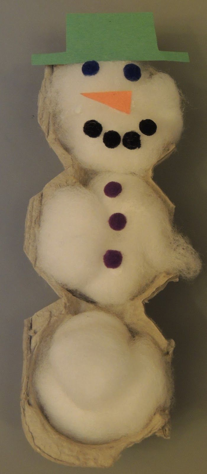 Simple snowman craft for toddlers and preschoolers.