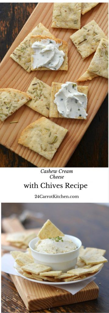 Cashew Cream Cheese and Chives Recipe - click to get the recipe for this simple, creamy, grain free, gluten free, dairy free, vegan and paleo cream cheese spread! Enjoy! Vegan Recipes|Paleo Recipes|Gluten free|DairyFree Recipes|Cream Cheese