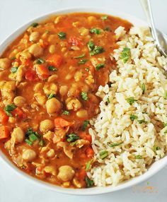 Chickpea stew is a hearty and comforting stew that goes well with rice. It is simple to make and delicious. Chickpea is low in fat, good source of protein. Minus the rice!