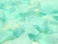 Wish | 1000pcs Blue Silk Rose Petals Artificial Wedding Flowers mint green Petals Petalas De Rosas Para Casamento