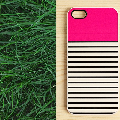 """Striped #iPhone #case - our favorite! Use the coupon code """"PINTEREST"""" and get this item with a 20% discount at www.another-case.com/collections/stripes/products/iphone-case-think-pink-1301"""