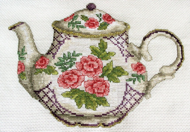 Cross stitched