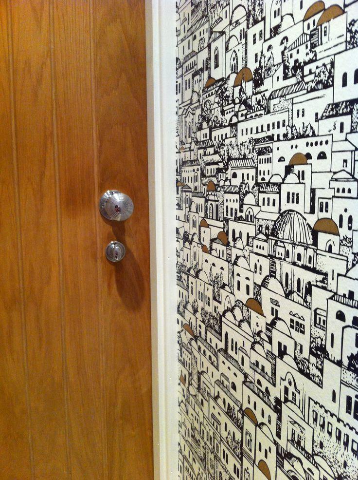 Love Coles Wallpaper, transformed the cloakroom! Mediteranea by Fornasetti for Cole & Son