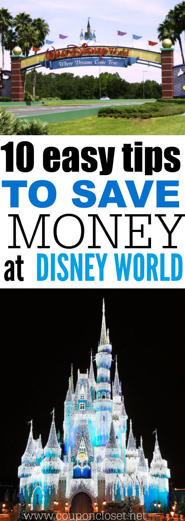Save Money at Disney World - here are 10 easy money saving tips that you haven't thought of to save money inside Disney world.