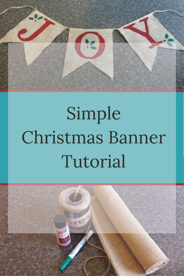 Christmas burlap banner tutorial-this simple Christmas burlap banner is easy to make and is so versatile! farmgirlreformed.com