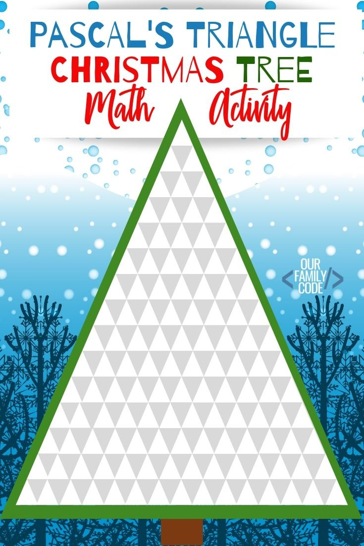 Pascal S Triangle Christmas Tree Patterns Math Activity Craft Activities For Kids Kids Learning Activities Triangles Activities