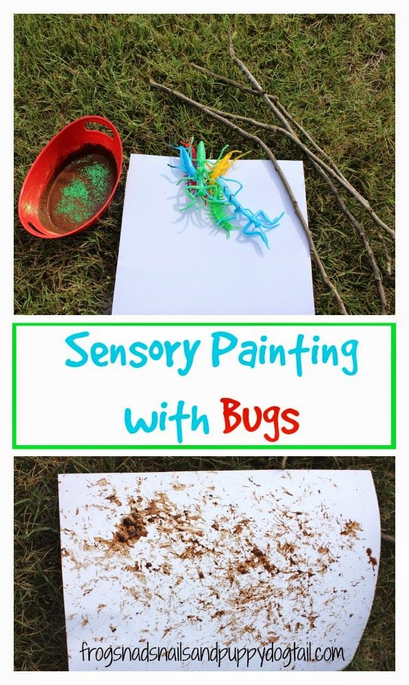 Sensory Painting with Bugs