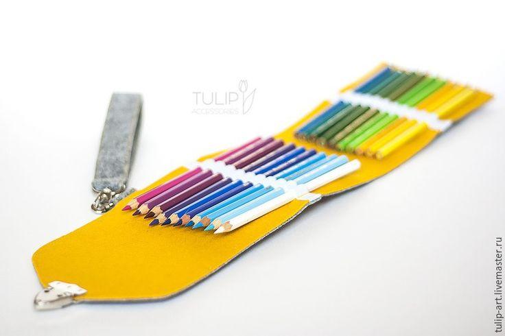 Яркий фетровый пенал для карандашей своими руками - Ярмарка Мастеров - ручная работа, handmade