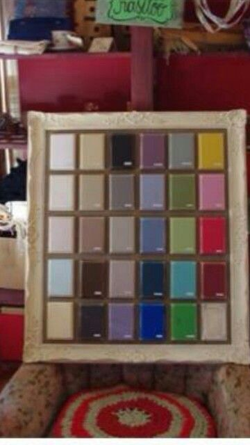 Lovely display of Vintro Chalk Paint colours by Shabbyhome, Estonia. See www.vintro.co.uk for contact details.