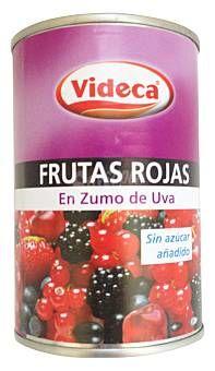 Lata Frutas Rojas en Zumo de Uva Videca (Mercadona) - 1 lata escurrida 1,5 puntos.