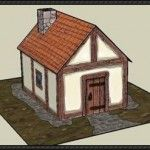 A Medieval House Free Building Paper Model Download