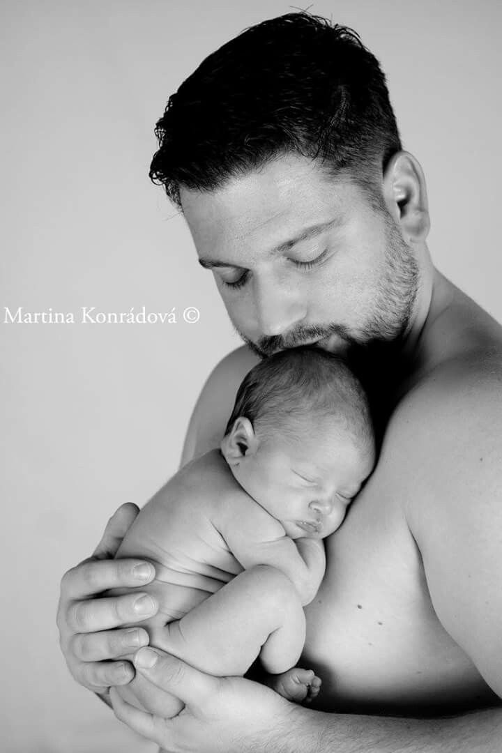 Tatinek a dcerka, novorozenci, newborn