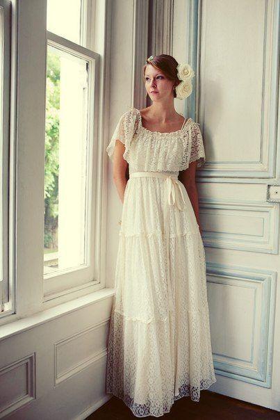 Винтажные свадебные платья из кружев от Heavenly Vintage Brides...