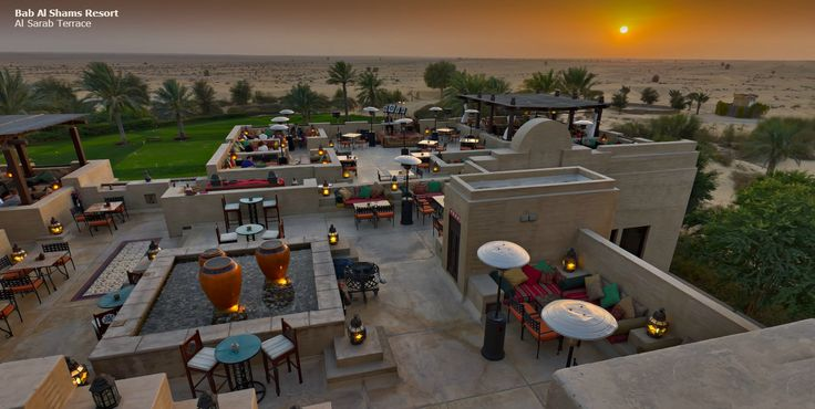 Breath-taking sunset views from Al Sarab Rooftop Lounge - Bab Al Shams Desert Resort & Spa