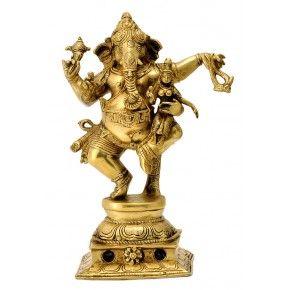 Dancing Ganesha Brass Sculpture