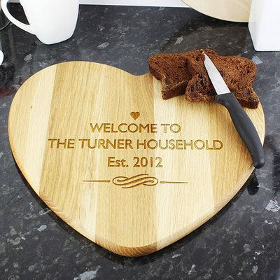 Check this out!! The Kitchen Gift Company have some great deals on Kitchen Gadgets & Gifts Personalised Wooden Heart Chopping Board #kitchengiftco