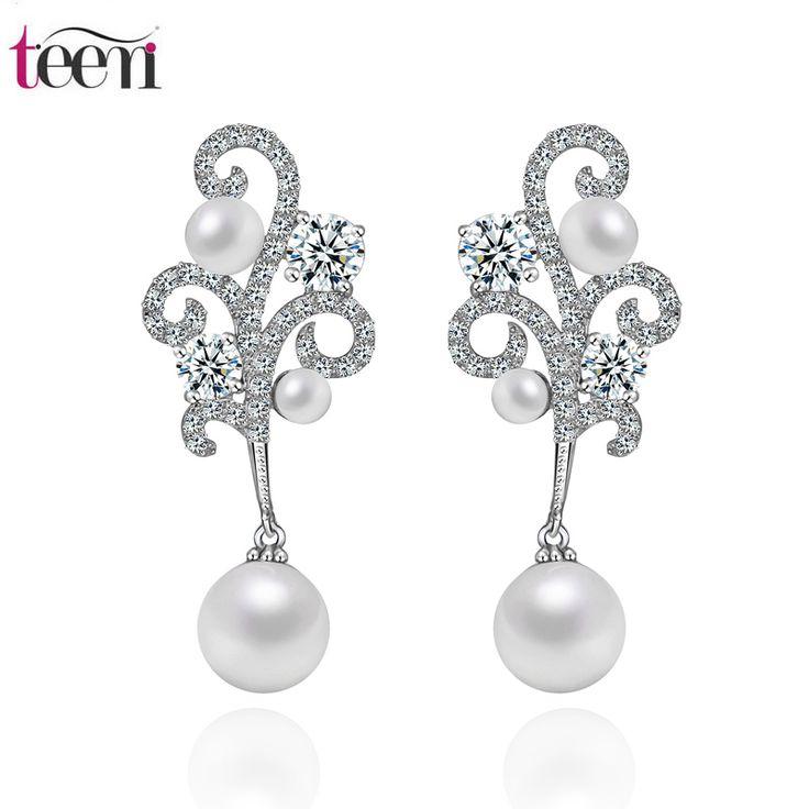 Teemi AAA Zircon Crown Sea Shell Pearl Earrings Brand 2015 Newest High Quality Stud Earings for Women Jewelry Wholesale Factory www.bernysjewels.com #bernysjewels #jewels #jewelry #nice #bags
