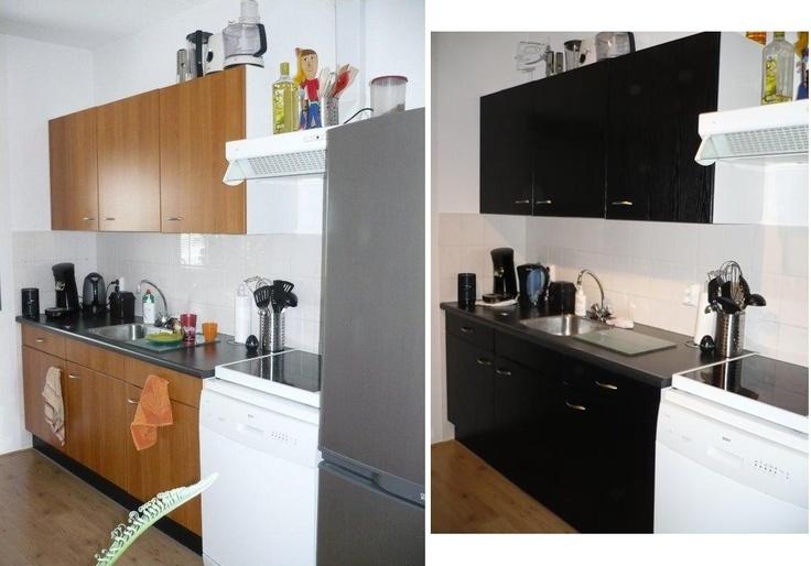 Je keuken zat? Maar geen geld voor een nieuwe? Gewoon je kastjes bekleden met plakfolie (en eventueel de greepjes vervangen) en je hebt een compleet andere keuken! Plakfolie verkrijgbaar bij Deco Home Bos in Boxmeer. www.decohomebos.nl