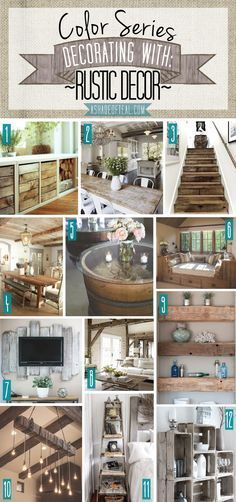 Color Series; Decorating with Rustic Decor, rustic, farm, vintage, old, weathered home decor | A Shade Of Teal