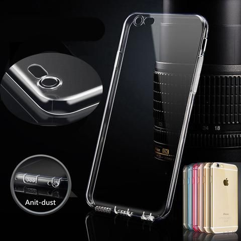 TPU Clear Silicon Coque Cover Case For iPhone 6 6s 4.7 inch Transparent Soft…