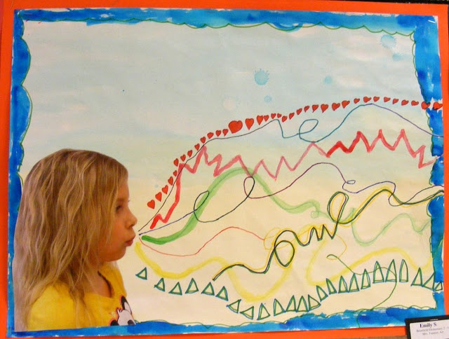 Field Elementary Art Blog!: 2nd Grade Line Studies http://suffieldart.blogspot.com/2013/03/2nd-grade-line-studies.html