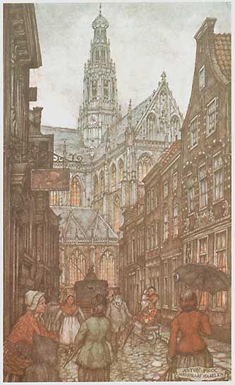 De Jansstraat met zicht op de St Bavo