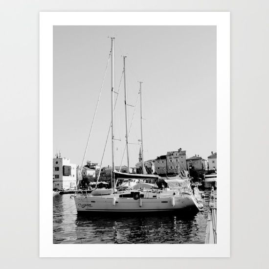 SAILBOAT Art Print by Dada22 @society6 #society6 #products #design #shop #shopping #buy #sale #fun #gift #idea #accessory #accessories #home #decor #style #fashion #art #digital #contemporary #cool #hip #awesome #awesomeness #chic #fashion #style #nautical #boat #water #sea #ocean #sail #black #white #photography #photo