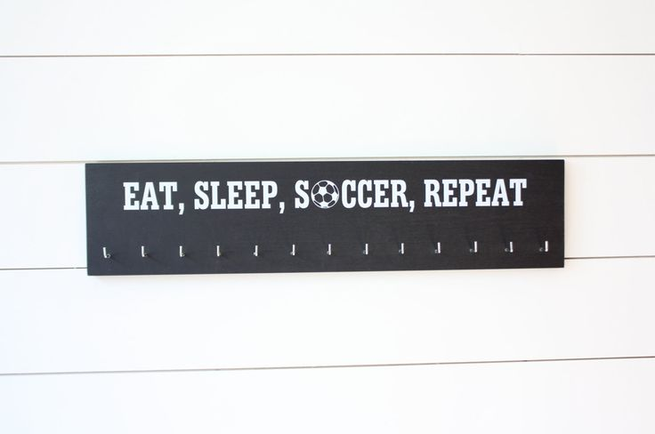 Soccer Medal Holder - Eat, Sleep, Soccer, Repeat - Large