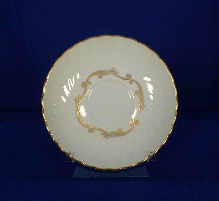 Syracuse USA Old-Ivory Baroque - Gray Pattern Saucer bfe2310 #Syracuse