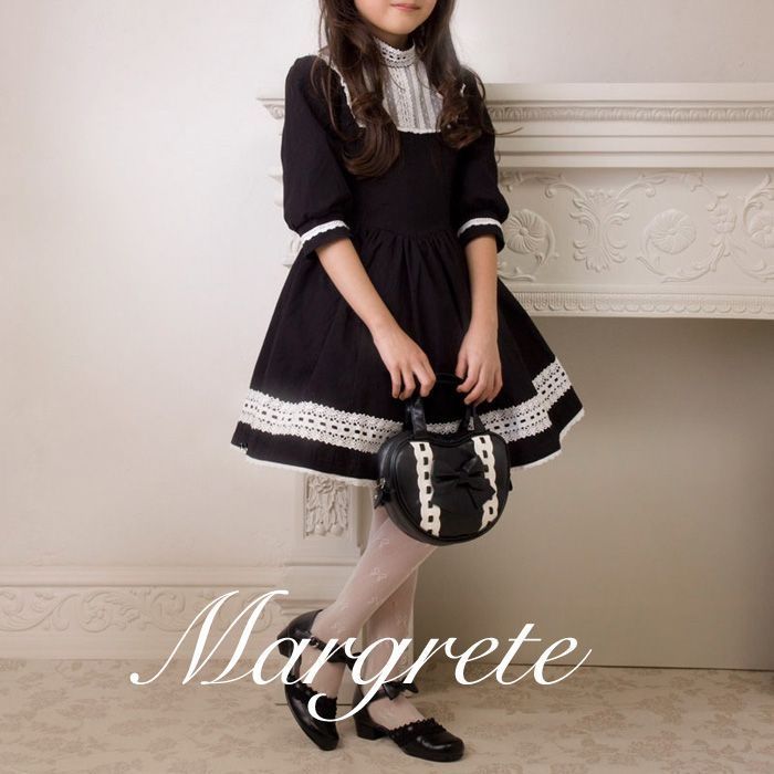 クラシックな香りのするレース飾りのワンピースです。  子供ドレス ティーンズフォーマル  マルグレーテ 気品ワンピース 結婚式    キャサリンコテージ