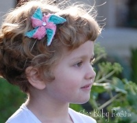 Lace Pinwheel hair piece by Chic Baby Rose. Handmade in the USA.