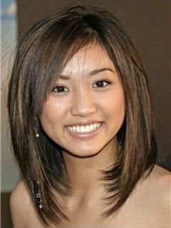 Long Straight Bob Hairstyle 100% Human Hair Mixed Color Lace Wig about 14 Inches