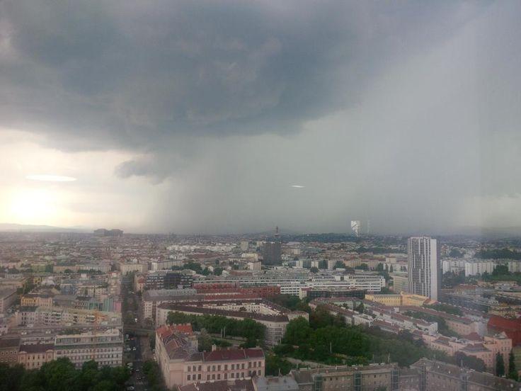 23.07.2014 - Gewitter über Wien