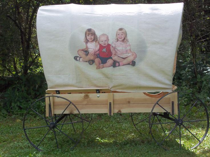 Grand kids Covered Wagon