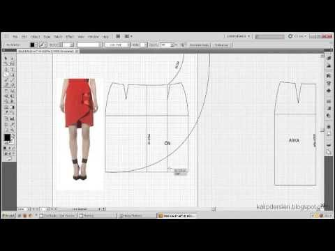 Model uygulamalı etek 33 / The model applied pattern skirt 33