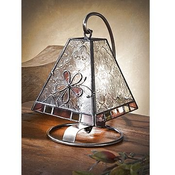 A Unique Gift Idea from ArtCraftGifts - J devlin glass art mini table lamp -glass glass