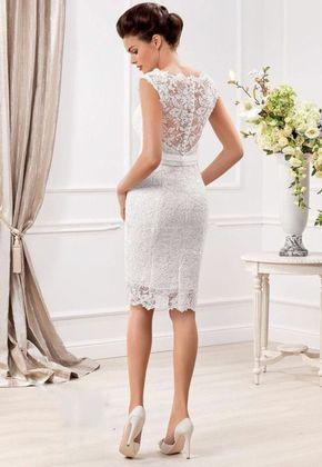 Vestidos de boda cortos elegantes