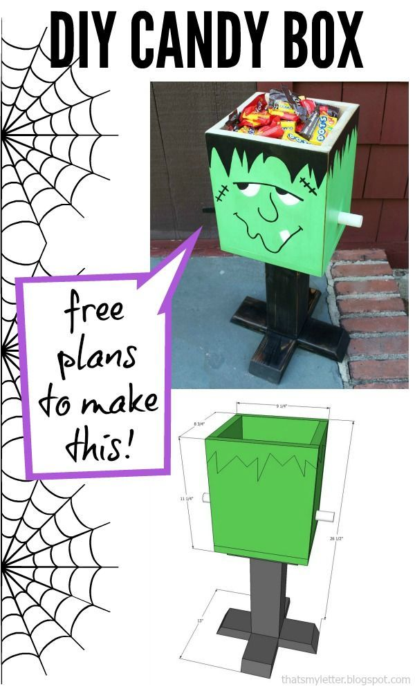 I'm always hunting for great Halloween ideas and this one is awesome! How to make a DIY Frankenstein Candy Box! #Halloween