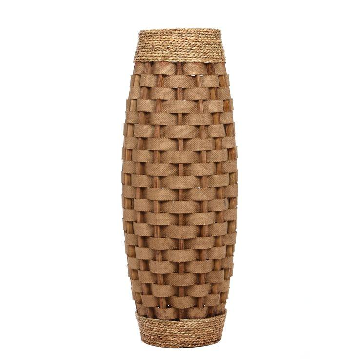 Elegant expressions by hosley large burlap vase 1 each