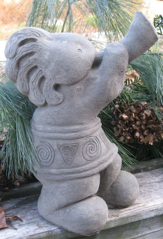 Concrete Kokopelli Statue Southwest Art Western Red