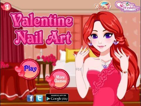 Valentine Nail Art 2 - Game Tutorial 2016