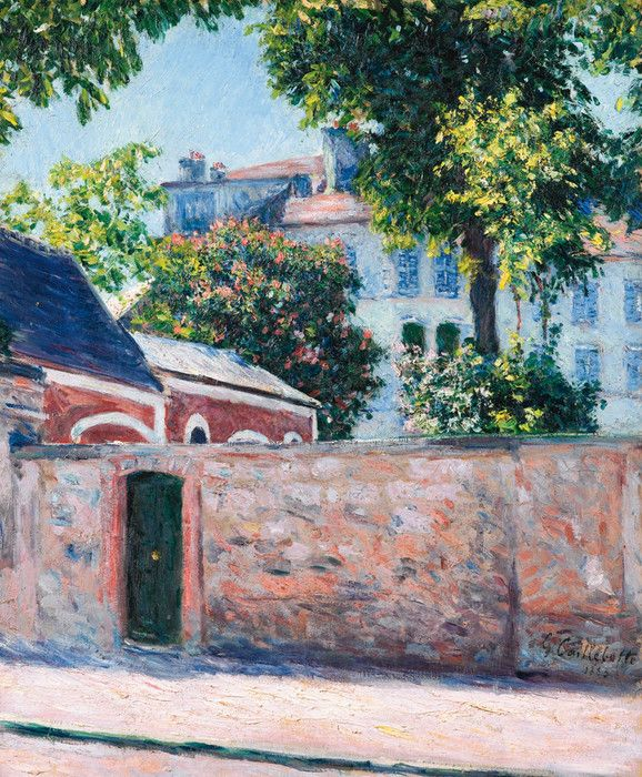 Houses in Argenteuil by Gustave Caillebotte | Art Posters
