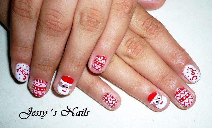 uñas navideñas #uñas #santaclaus #nailart #nail #decoracion #navideña