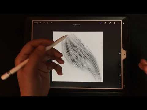 Procreate brushes - hair and grass effects made easy