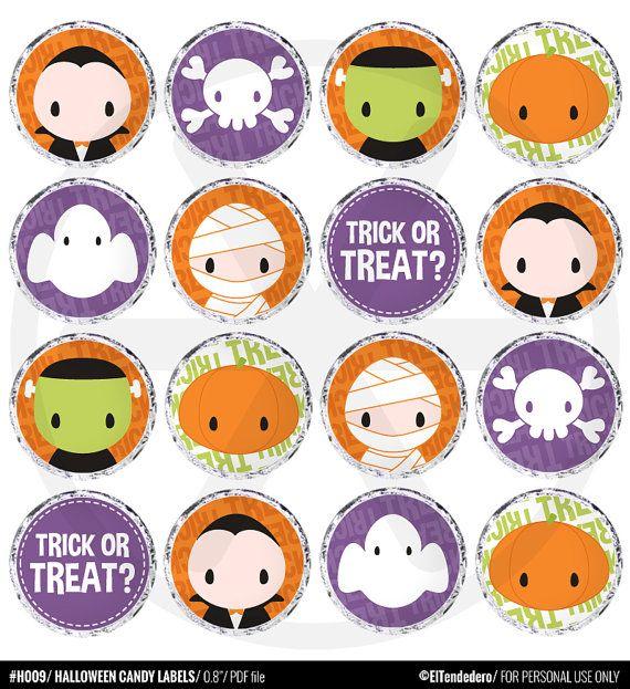 Etiquetas para caramelos de Halloween  Halloween por eltendedero
