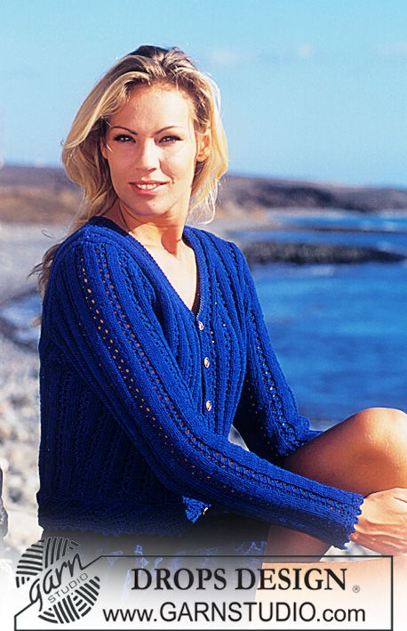 Free pattern: DROPS Cardigan in Muskat.