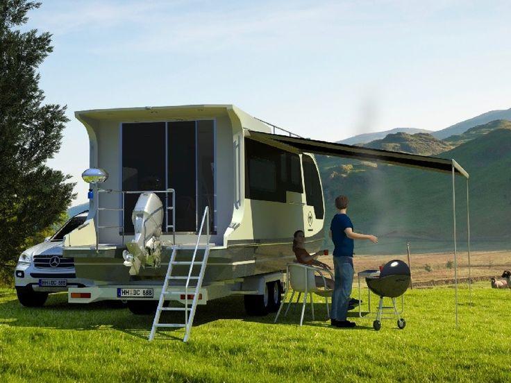 Camper und Hausboot in Einem! Jetzt erhältlich! Der neue Caravan zu Land und Wasser  nutzbar, Trailerbar und Führerschein frei - ganz neu auf dem Markt!