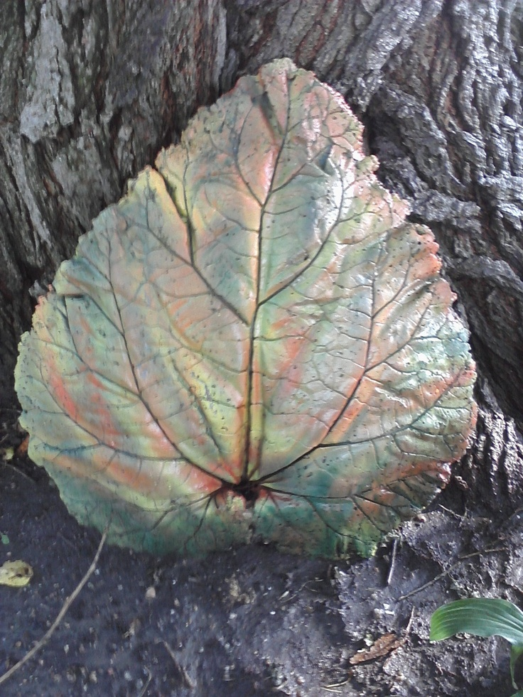 Would love to make ---  Cement leaves I made from live rhubarb leaves.