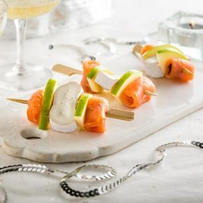 Brochettes au Fagotin Double Crème saumon et pomme verte